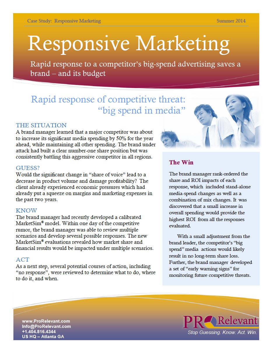 Marketing Responsiveness with MarketSim